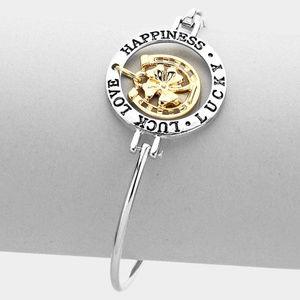 """Jewelry - Irish Lucky"""" Four Leaf Clover Bracelet"""